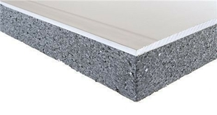 Doublage isolant PREGYTHERM R= 2,30 Standart BA10+80 plaque de plâtre + PSE Graphite TM ép.10+80mm larg.1,20m long.2,80m - Gedimat.fr