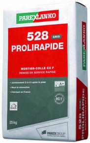 Mortier-colle améliorée rapide et polyvalent C2 F 528 PROLIRAPIDE sac de 25kg coloris gris - Gedimat.fr