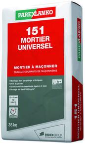 Mortier traditionnel en poudre 151 MORTIER UNIVERSEL sac 35kg - Gedimat.fr