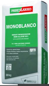 Enduit monocouche semi-allégé spécial blanc MONOBLANCO sac de 30kg - Gedimat.fr