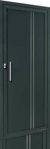 Porte d'entrée Aluminium LUDE gauche poussant haut.2,15m larg.90cm laqué gris - Gedimat.fr
