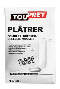 PLATRE TOUPRET 15KG GSB - Gedimat.fr