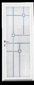 Porte d'entrée Aluminium FUYA avec isolation totale de 100mm gauche poussant haut.2,15m larg.90cm laqué blanc - Gedimat.fr