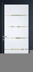 Porte d'entrée Aluminium HEDO droite poussant haut.2,15m larg.90cm laqué gris - Gedimat.fr