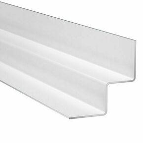 Profilé d'angle intérieur en aluminim laqué 45x45mm long.3m Blanc Arctique - Gedimat.fr