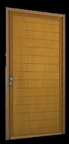 Porte de service MARVEJOLS en bois exotique rouge gauche poussant haut.2,15m larg.90cm - Gedimat.fr