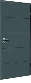 Bloc-porte laqué HANOVRE huisserie cloison 100 à 116mm finition anthracite haut.204cm larg.73cm gauche poussant - Gedimat.fr
