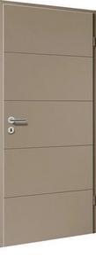 Bloc-porte laqué HANOVRE huisserie cloison 100 à 116mm finition macchiato haut.204cm larg.83cm droit poussant - Gedimat.fr