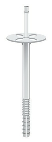 Cheville plastique 10x150 avec clou, pour fixation d'isolant rigide ép.110 à 120 mm, 500 pièces - Gedimat.fr