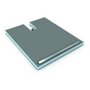 Receveur carré à carreler FUNDO PLANO LINEA WEDI polystyrène extrudé dim.90x90cm canal long.30cm - Gedimat.fr