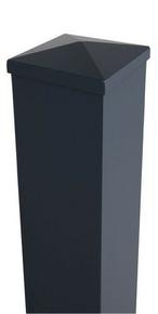 poteau aluminium section 15x15 cm haut 2 50m gris. Black Bedroom Furniture Sets. Home Design Ideas