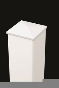 Poteau Aluminium Section 15x15 Cm Haut250m Blanc Gedimatfr