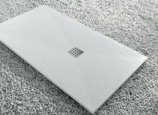 Receveur rectangulaire à poser ou à encastrer SLATE en akron haut.3cm larg.90cm long.120cm blanc - Gedimat.fr