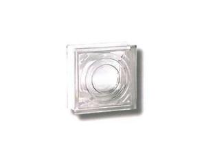 Brique de verre FRESNEL ép.8cm dim.19x19cm transparente effet lentille - Gedimat.fr