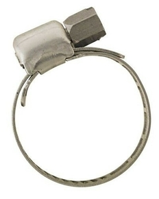 Collier de serrage acier inoxydable à bande ajourée larg.8mm diam.à serrer 10 à 16mm en sachet de 2 pièces - Gedimat.fr