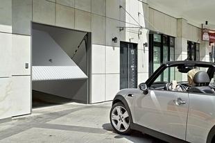 Porte de garage basculante 121 métallique haut.2,125m larg.2,375m coloris blanc RAL9016 - Gedimat.fr