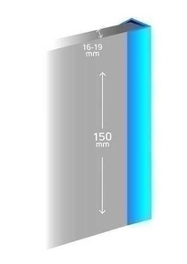 profil de finition pvc pour plinthes de hauteur 15 cm et d 39 paisseur 16 mm blanc brillant. Black Bedroom Furniture Sets. Home Design Ideas