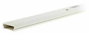 Moulure électrique blanche long.2m larg.20mm haut.10mm - Gedimat.fr