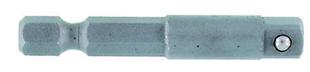 Adaptateur type VP à bille hexagonal 1/4'' long.50mm - Gedimat.fr