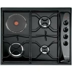 Plaque de cuisson 3 feux gaz + 1 foyer électrique WHIRLPOOL 60cm coloris noir - Gedimat.fr