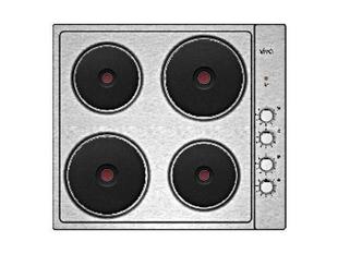 Plaque de cuisson 4 feux électiques VIVA 60cm coloris inox - Gedimat.fr