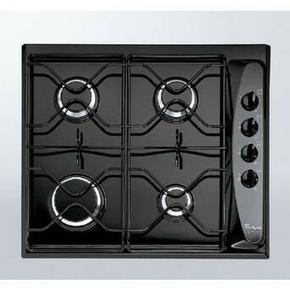 Plaque de cuisson 4 feux gaz (1000W, 2 x 1650W, 3000W) WHIRLPOOL 60cm coloris noir - Gedimat.fr