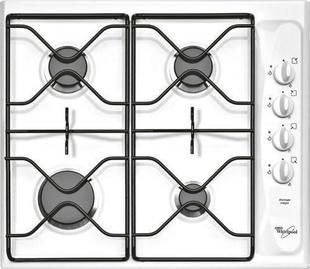 Plaque de cuisson 4 feux gaz WHIRLPOOL 60 cm coloris blanc - Gedimat.fr