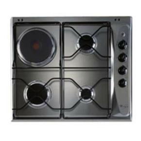 Plaque cuisson 3 feux gaz + 1 foyer électrique WHIRLPOOL 60cm coloris inox - Gedimat.fr