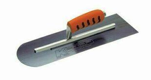 Lisseuse acier 1 bout arrondi et 1 bout angle droit - 40x10cm - Gedimat.fr