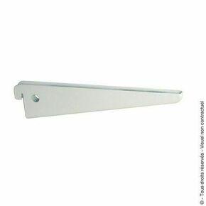 Console double Long.17cm entraxe 3,2cm blanc - Gedimat.fr