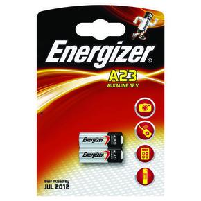 Pile alcaline A23 E23A V23GA ENERGIZER 12 volts sous blister de 2 piles - Gedimat.fr