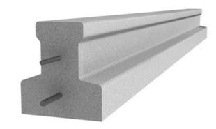 Poutrelle en béton X92 haut.9,2cm larg.8,5cm long.4,40m - Gedimat.fr