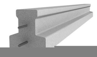Poutrelle en béton X92 haut.9,2cm larg.8,5cm long.4,50m - Gedimat.fr
