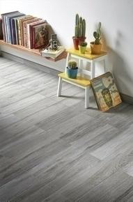 Plinthe carrelage pour sol WOOD larg.8cm long.50cm coloris gris - Gedimat.fr