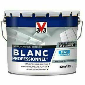 Peinture professionnel blanc mat  - pot 5l - Gedimat.fr