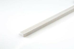 Profil de finition PVC clipsable long.2600mm Wood Datcha blanc - Gedimat.fr