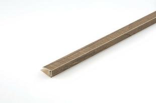 Profil de finition PVC clipsable long.2600mm Wood Megève brun - Gedimat.fr