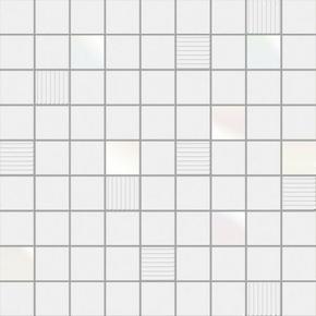 Décor CUBIC pour mur en faïence BLACKANDWHITE sur trame dim.31,6x31,6cm coloris white - Gedimat.fr