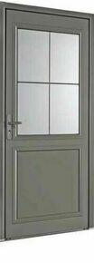 Porte d'entrée LANGEAIS en aluminium laqué gauche poussant haut.2,15m larg.90cm - Gedimat.fr