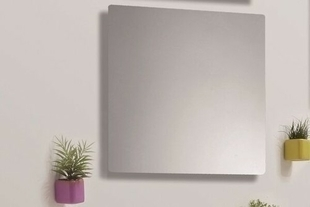 Miroir simple LULEA larg.60cm long.80cm argent - Gedimat.fr