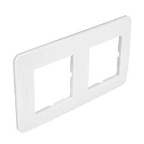 Plaque de finition double CASUAL coloris blanc brillant - Gedimat.fr