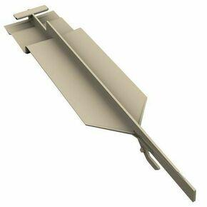 Pièce de jonction invisible PVC pour bardage cellulaire original à recouvrement 16 x 40 x 190 mm Gris Foncé - Gedimat.fr