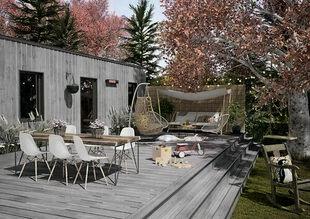 Lame de terrasse Composite FOREXIA ELEGANCE structurée veinée bois Ep.23 mm Larg.138 mm Long.4 m gris anthracite - Gedimat.fr