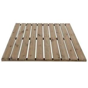Dalle de terrasse Pin Sylvestre face lisse dim.100x100cm ép.32mm - GEDIMAT - Matériaux de construction - Bricolage - Décoration