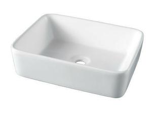 Vasque carrée à poser SEYDA en céramique larg.37,5cm long.48cm blanc - Gedimat.fr