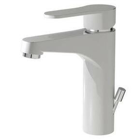Mitigeur pour lavabo KIWI finition blanc / chrom�e - GEDIMAT - Mat�riaux de construction - Bricolage - D�coration