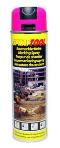 Bombe traceur de chantier 500ml fluo rose - Gedimat.fr