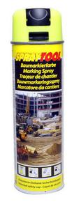 Bombe traceur de chantier 500 ml fluo jaune - Gedimat.fr