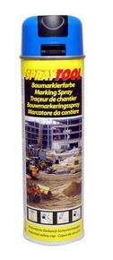 Bombe traceur de chantier 500ml fluo bleu - Gedimat.fr