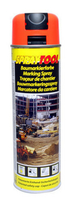 Bombe traceur de chantier 500ml fluo orange - Gedimat.fr